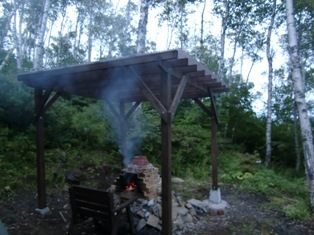 石窯屋根完成1(ブログ用)