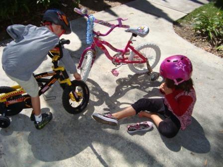 8-8-09 Riding Bike