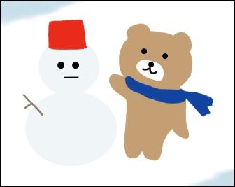 熊と雪だるま