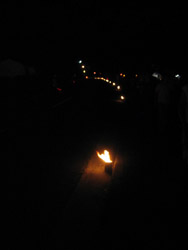 火祭り夜景