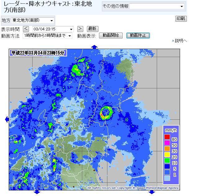 雨量レーダー、サークル1