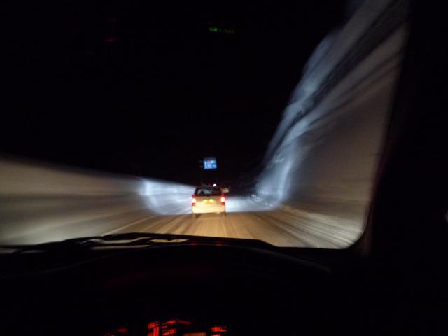 夜の三国峠チェイス