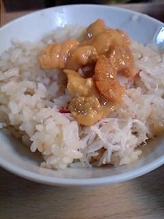 蟹ウニご飯