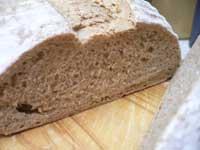 自家製酵母パンの中