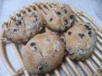 梨酵母で小豆パン