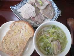 胚芽食パンの朝ご飯