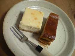 チーズケーキ二種