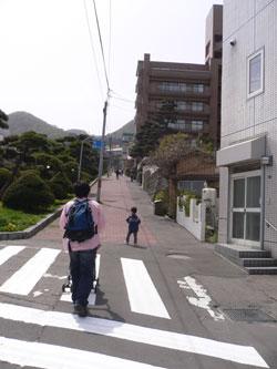 函館山への道