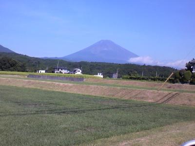 田園風景と富士山