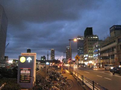 梅雨明け前日の梅田の空