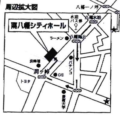 セレマ南八幡シティーホール地図アップ