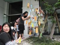 竹笹に飾る2