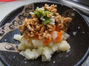 茹で野菜の納豆のせ