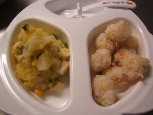 おさかなソーセージとスイートコーンのポテトサラダ