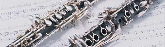 吹奏楽背景クラリネットと楽譜