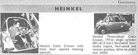 HEINKEL Cabin