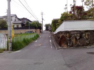 自宅前の坂