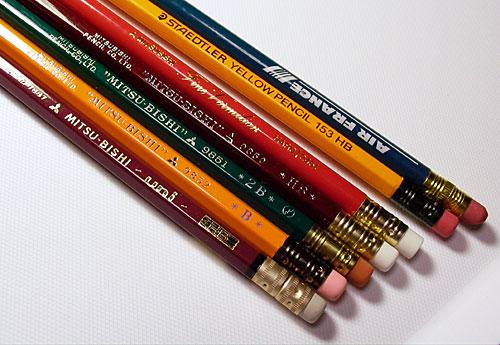 消しゴムつき鉛筆