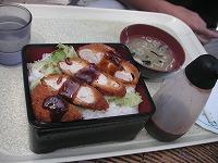 ソースチキンカツ丼