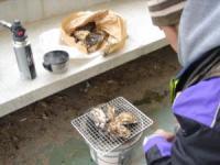 牡蠣とポン太