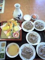 天ぷら皿そば 文楽