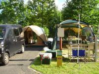 湯の原温泉オートキャンプ場 テントサイト