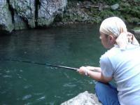 湯の原温泉キャンプ 川釣り