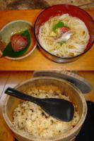やまめ料理 阿瀬 〆のおそうめん&山菜ごはん