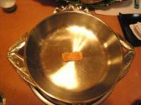 かに型のしゃぶしゃぶ鍋と箸置き