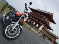 朱雀門&ポン太武装バイク