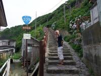 階段国道399号線を登る?
