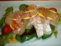 料亭川飛 鯛のお造りサラダ