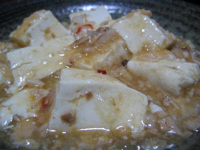 新巻鮭を使った麻婆豆腐風
