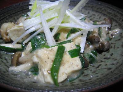 ホタテと豆腐のうま煮風