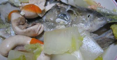 鮭のアラ汁