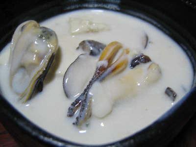ムール貝と豆腐のミルク煮
