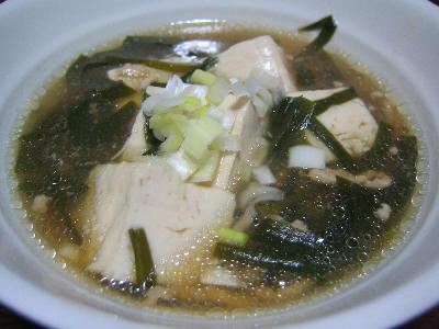 ニラと豆腐のそろろあん煮