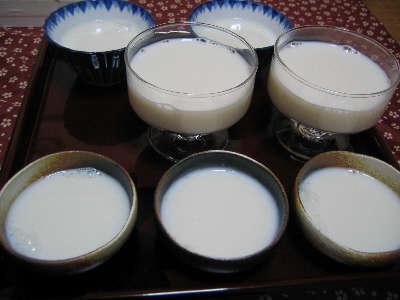 ダイエット牛乳寒天。