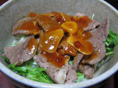ラム肉の焼肉丼