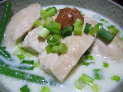 鶏肉の牛乳味噌煮