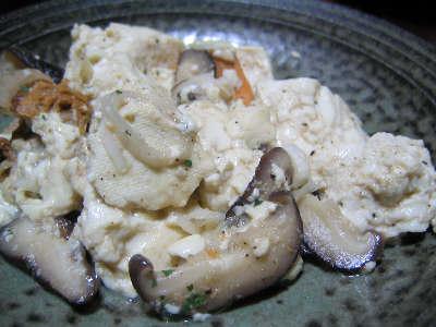 豆腐とホタテのチャンプル