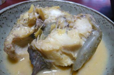 アイナメの味噌煮