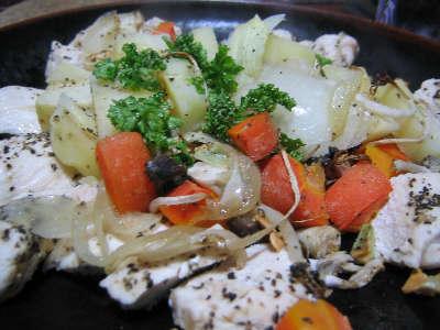 野菜と鶏肉のオーブン焼き