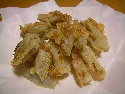 レンコン生姜かき揚げ