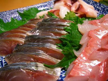 しめ鯖と刺し盛り
