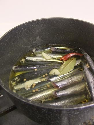 オイルサーディンお鍋