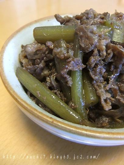 牛肉とふきのしぐれ煮