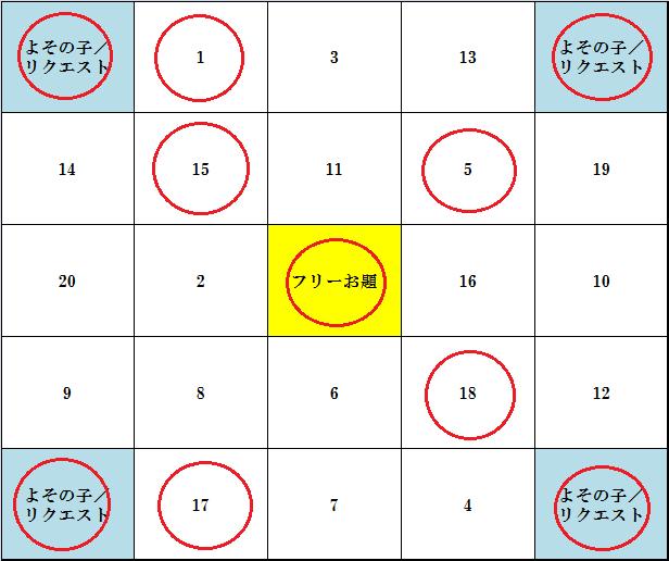 ビンゴ4(あがり)