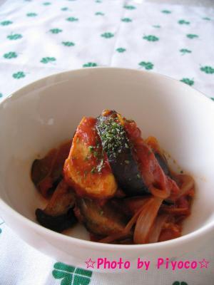 冷凍豆腐のトマト煮込み