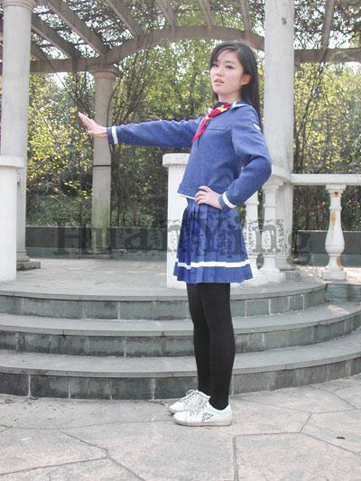 #36745;日南高中女生秋冬制服#20391;面